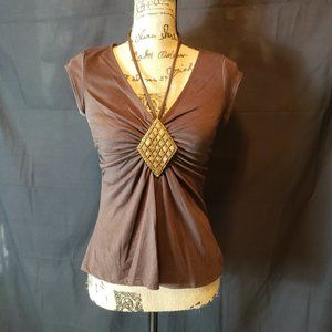 Speechless Brown Stylish blouse
